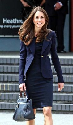 love the dress and jacket Princess Kate is wearing