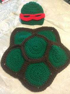 Crochet baby ninja turttle costume on Etsy, $20.00