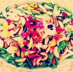 Summer Salad With Apples, Dandelions, & Spinach