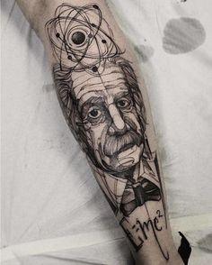 #Repost @tattsketches  Tattoo by @fredao_oliveira #einstein #inkformer