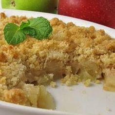 Apple Crisp - Perfect and Easy Allrecipes.com (no oats)