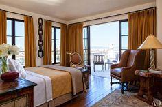 A San Francisco master bedroom's terrace boasts views across the city.