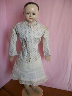 French Paper Mache Doll by Andreas Voit 26 inch Nice | eBay