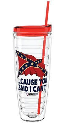 Share PatriotDepot and get a coupon for $5 off your order of $25 or more! The Confederate Flag: Cause You Said I Can't Tumbler (26oz.) #patriotdepot