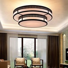 new chinese ceiling light minimalist round led light warm bedroom living room light study hotel chinese