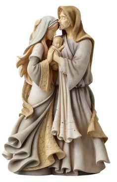 Enesco Foundations Nativity Holy Family Masterpiece Figurine 12 Inches for sale online Catholic Gifts, Catholic Art, Religious Art, Catholic Marriage, Religious Pictures, Catholic Priest, Jesus Christus, Mama Mary, Christmas Figurines