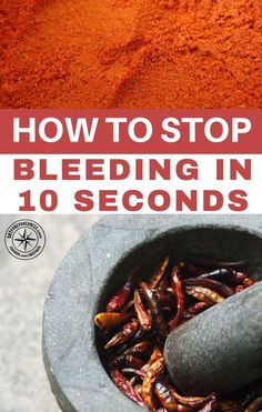Pouring Cayenne Pepper Onto A Wound Stops Bleeding Wait Until The - Home remedies stop bleeding