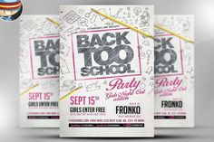 Back To School Sale Chalk Flyer By Lucion Creative On