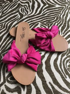 53cd98dfb6e9 Women s Suede Knotted Bow Slide Sandals Pool Slide (Fuchsia   Taupe) Size 6- 11