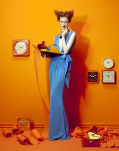 Killing Time Great color blocking shoot for Vogue Italia, fashion photographer Lucia Giacani, did a great editorial for for Vogue June 2011 issue