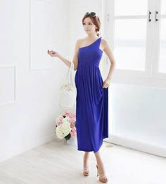 My blue Sunday dress Casual Summer Dresses, Party Dresses For Women, Casual Dresses For Women, Formal Dresses, Blue Sunday, Sunday Dress, One Shoulder, My Style, Sexy