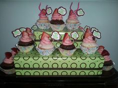 Chocolate Covered Strawberry Birthday CupCakes!