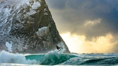 As the sun fades away and the Arctic begins to turn dark and cold, Dane Gudauskas finds enough warmth to take flight in Lofoten -- an archipelago and traditional district in the county of Nordland, Norway.