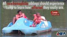 The bond between siblings is extra-special, even more so if one has a #bleedingdisorder. In this week's mom's blog, Lovee shares how summer camp helped her children grow closer together, and better understand how #hemophilia affects them all differently.