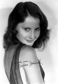 Barbara Stanwyck: SO young!