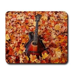 The Gibson Mandola in Autumn Leaves Mouse Pad ($15.99)