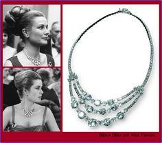 Ana Passos Joias - Expo Grace Kelly 03 Colar de diamantes em platina de Cartier, presente de casamento do noivo, era uma das joias preferidas da Princesa Grace