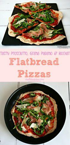 Super tasty and quick Prosciutto di San Daniele, Grana Padano & Rocket Flatbread Pizzas