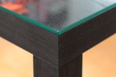 Lack Tischplatte aus Glas mit polierten Kanten