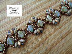 Pattern for Diadem Bracelet with Silky Beads by WescottJewelry