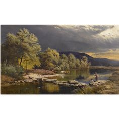 percy, sidney richard on the llugwy, north wales Landscape Art, Landscape Paintings, Landscapes, Winter Painting, Pre Raphaelite, Impressionist Art, Traditional Paintings, Nature Paintings, Famous Artists