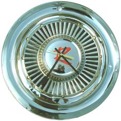 Hubcap Clock, Rambler '60s, with dots for numbering  (v 11 14 hub cap)      http://www.etsy.com/listing/86169808/sale-hubcap-clock-rambler-60s-with-dots?ref=br_feed_59_feed_tlp=home-garden