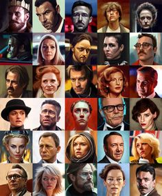 30 movie characters on Behance