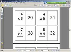 FREE!!! printable math cards, addition, subtraction, mulitplication and division facts.... so awesome!