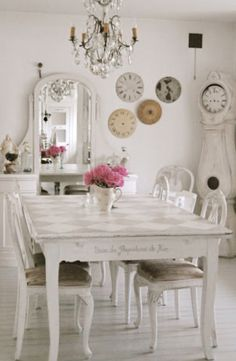 all white dining