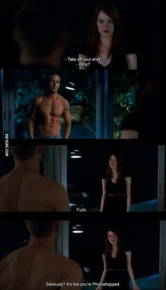 Crazy, stupid, love. Seriously? You're photoshopped!