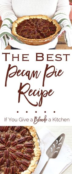 This is seriously the best pecan pie recipe I've ever used! The pecan pie is…