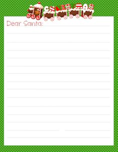 Freebie: FREE Letter To Santa Templates U2013 Notes To Or From Santa