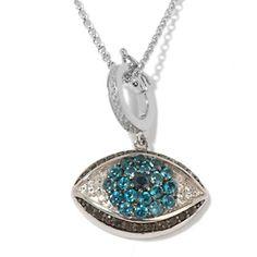 "Rarities: Fine Jewelry with Carol Brodie ""Evil Eye"" Gemstone Enhancer Pendant at HSN.com."