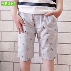 6-11 Ages Children Beach Wear Goat Pattern Pants Trousers For Boys Cotton Summer Shorts Kids Pants Casual Sport Shorts Boys #Affiliate