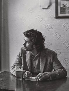 Ben Whishaw in black and white