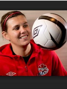 Christine Sinclair Soccer Stuff, People Of The World, Soccer Ball, Athletes, Amazing Women, Board, Sports, Hs Sports, Excercise