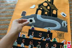 "@havingfunsaving Mason Jar Fall Crafts - Get The House Ready For The Season! ""The Halloween Countdown Chart is a fun way to keep the Halloween excitement going all month long! The kids take turns adding the ""spooky"" characters to the chart each morning (they just stick on with Velcro!). When the countdown is done, you have a fun Halloween Scene..."""