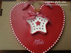 Targhetta natalizia in polvere di ceramica