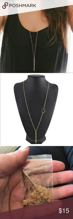 -new- GOLD long bar necklace Dainty and perfect for any outfit alloy metal gold in color Jewelry Necklaces