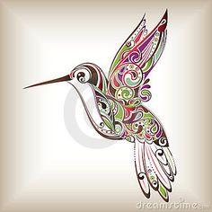 Zentangle hummingbird, this is the perfect hummingbird tattoo that . Future Tattoos, New Tattoos, Tribal Tattoos, Tatoos, Ta Moko Tattoo, 1 Tattoo, Tattoo Bird, Pretty Tattoos, Beautiful Tattoos