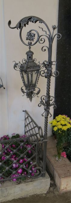 Detail of Grave decoration in Bruneck, Italy - Photograph by Mark Langley Artist