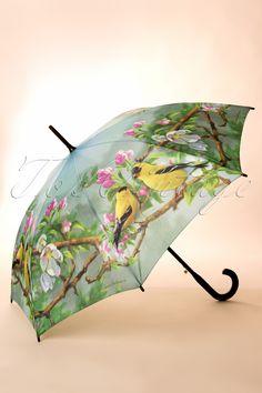 So Rainy - 60s Gold Birdie Love Umbrella