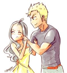 Laxus and Mira... I'm not sure how I feel about this... hmm... I might... just maybe... sorta... slightly... ship it.