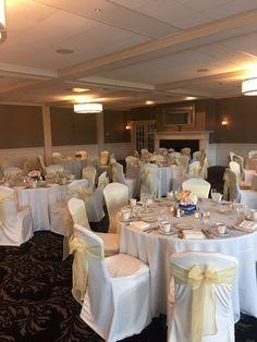 Wedding Reception Inspiration #wedding #reception #yellow #manchestercountryclub