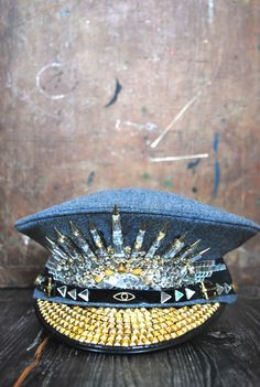 Military Disco Hat – Cosmic Love Patterns