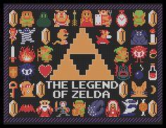 Pattern for NES Zelda Poster from Nintendo Power [+grid]