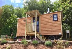via Bookalet booking system for holiday rental Glamping Wales, Shepherds Hut, Farrow Ball, Interior And Exterior, Shed, Woodworking, Outdoor Structures, Cabin, Windows
