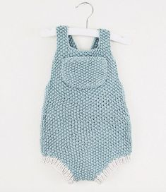 Minimalistic seed stitch summer baby romper by Localparitygoods
