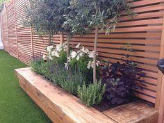 Small Courtyard Gardens, Small Backyard Gardens, Small Gardens, Outdoor Gardens, Backyard Plants, Backyard Garden Design, Backyard Landscaping, Patio Trees, Seaside Garden