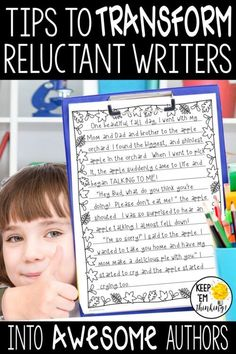 Ready to learn how to turn your reluctant writers into awesome authors? Checks out these 9 tips to get your students creating great stories! Creative Writing For Kids, Cool Writing, Kids Writing, Teaching Writing, Writing Activities, Language Activities, Teaching Ideas, 5th Grade Writing, Middle School Writing
